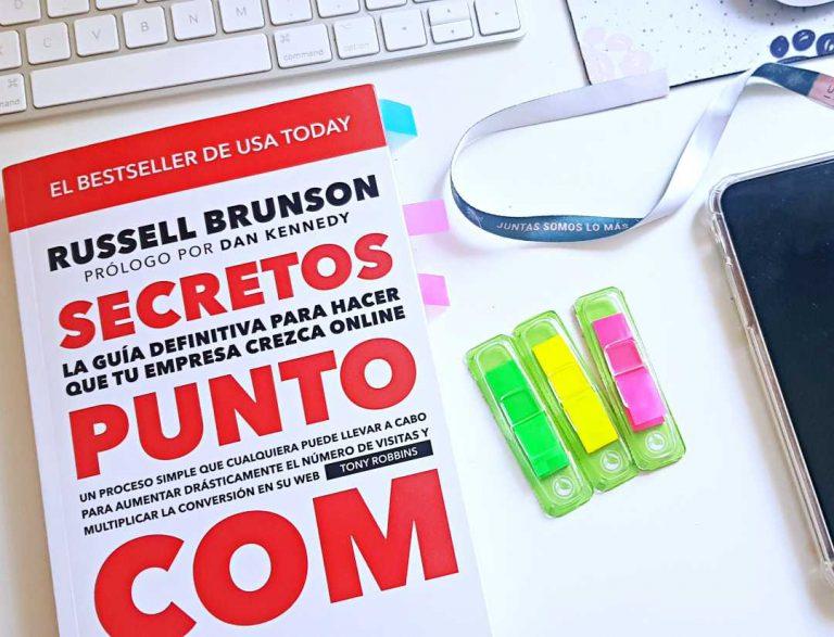 portada del libro de Russell Brunson Secretos Punto Com